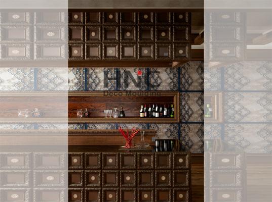 phào chỉ hàn quốc HNC màu gỗ ứng dụng nội thất tân cổ điển